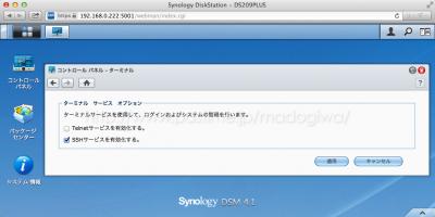 Synology DSM 4.1のターミナル設定